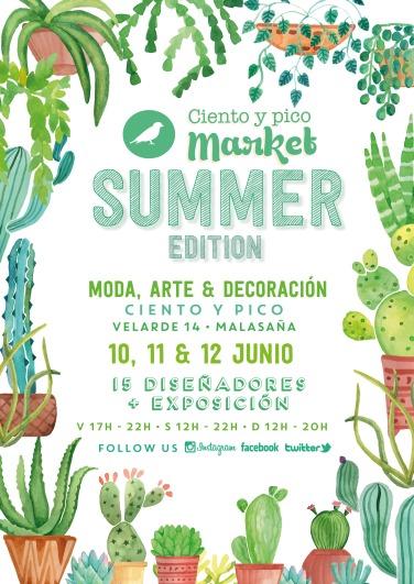 Cartel Ciento y pico Market Summer Edition