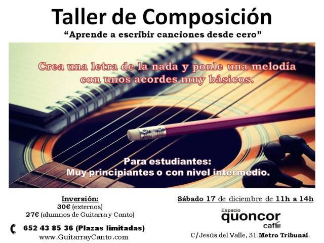 Taller de composición, Malasaña (Madrid)