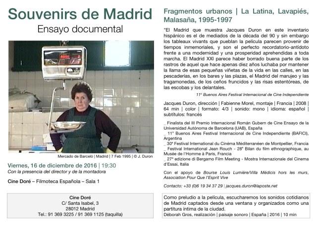Souvenirs de Madrid, Cine Doré
