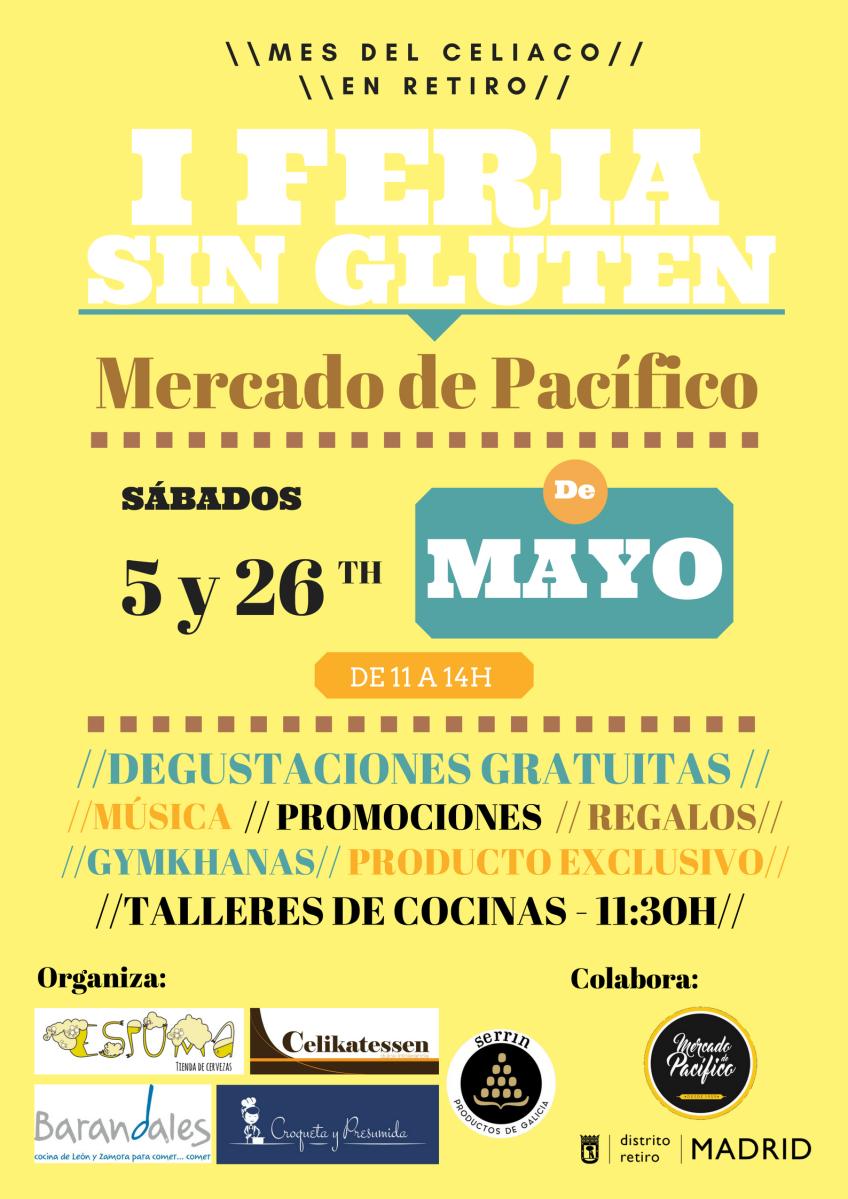 DEL 5 AL 26 DE MAYO, RETIRO CELEBRA EL MES DEL CELIACO EN EL MERCADO DE PACÍFICO